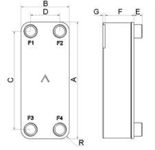 SWEP B5 wymiary