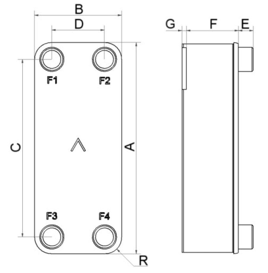 SWEP B10T wymiary