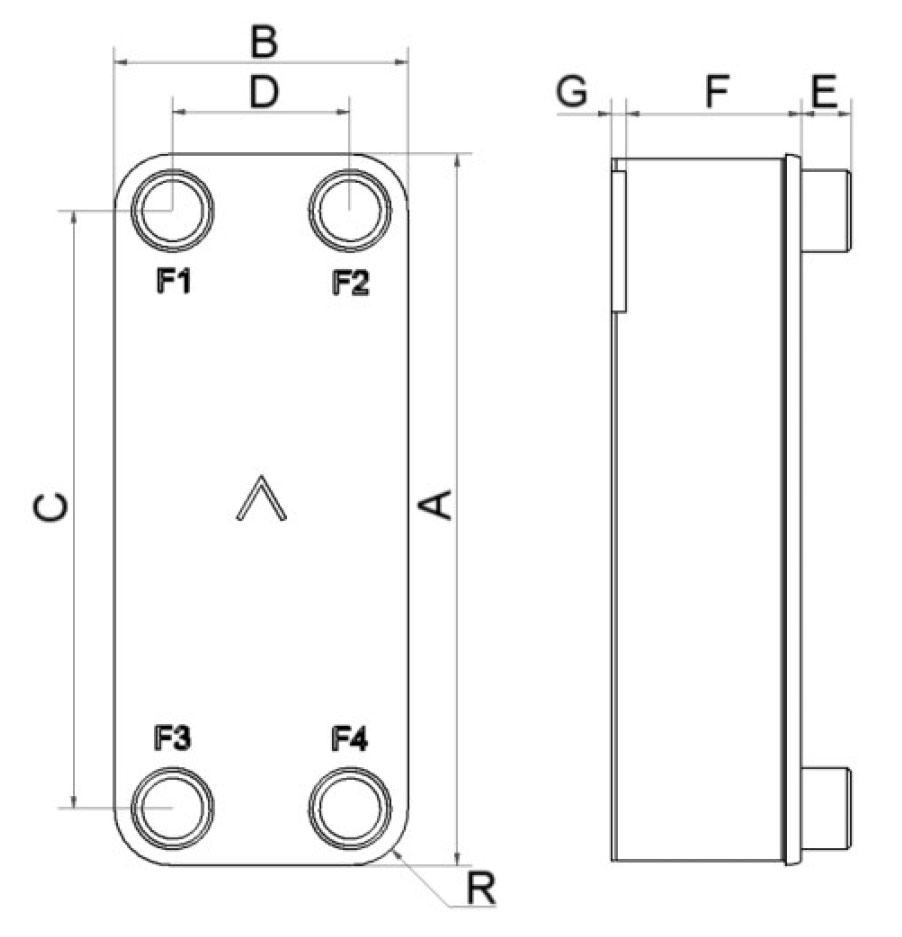 SWEP B15T wymiary