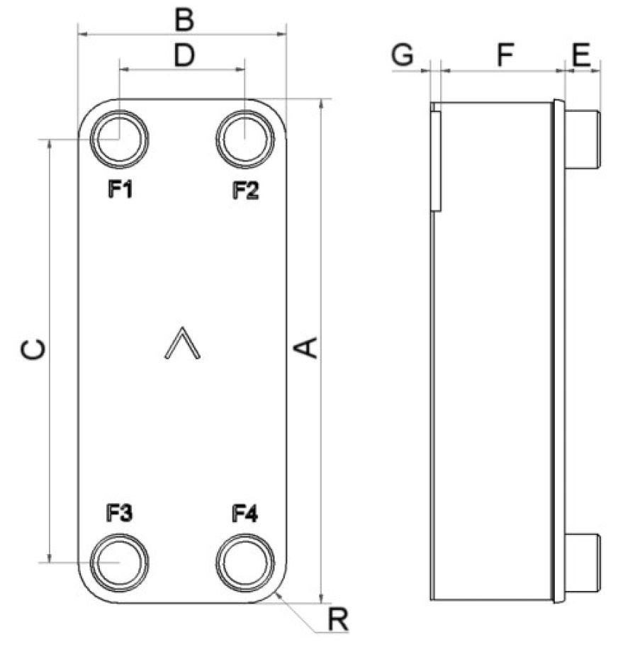 SWEP B16DW wymiary