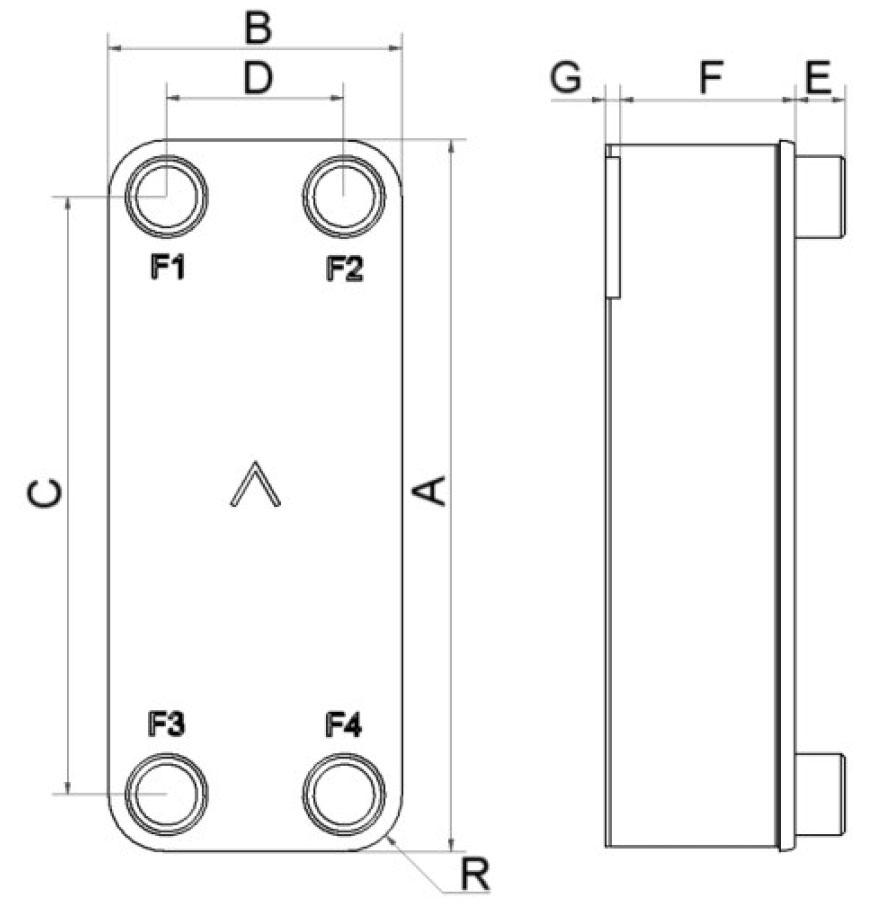 SWEP B25T wymiary