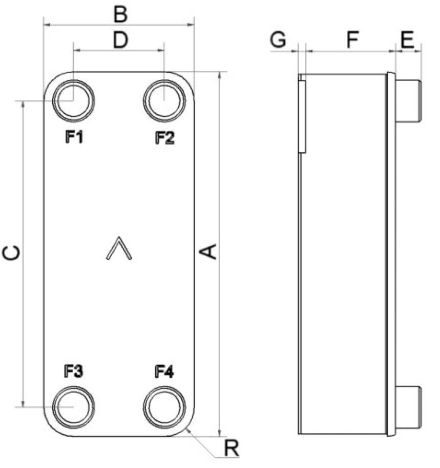 SWEP B56 wymiary