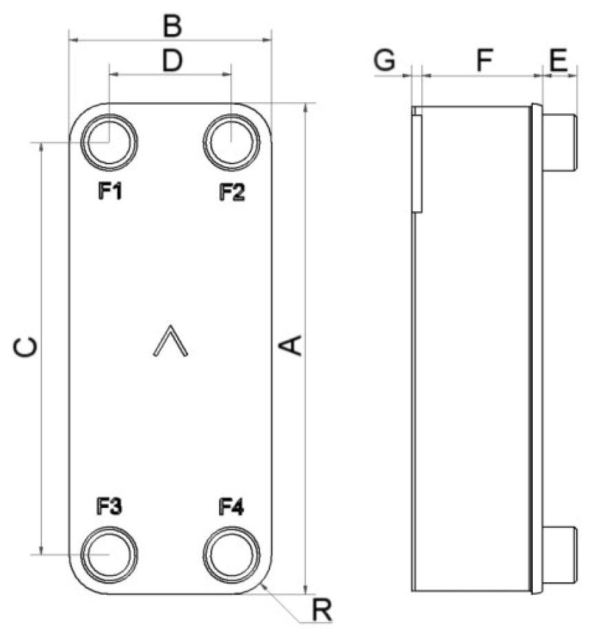 SWEP B85S wymiary